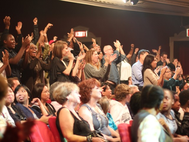The crowd at the Apollo cheers for their favorite performers, which is how the winners are selected on Amateur Night.