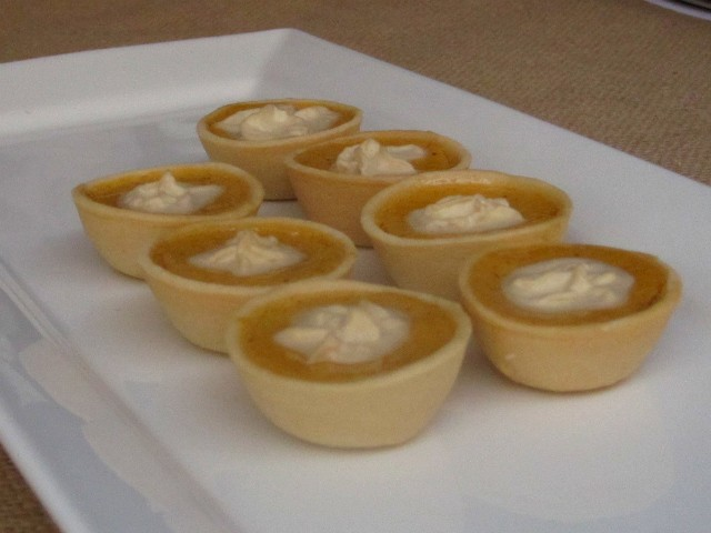 Mini pumpkin cheesecakes from Bridgewaters.