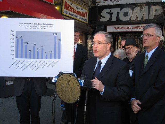 Stringer and Assemblyman Brian Kavanagh call for more enforcement and education.