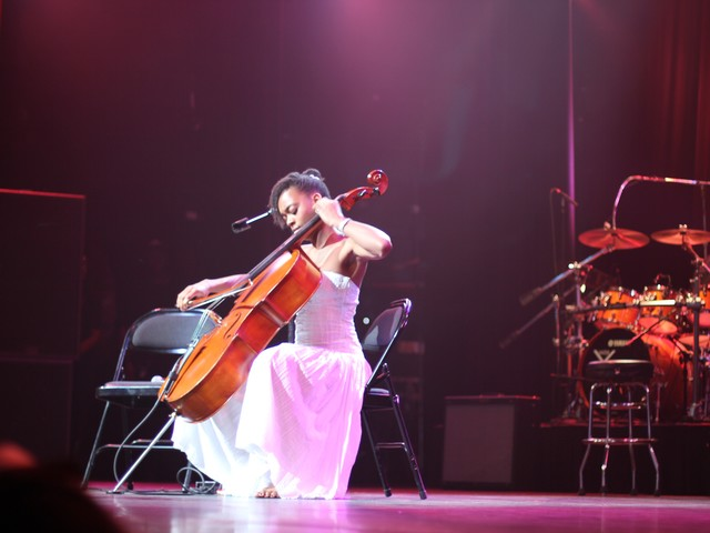 Ayanna Witter-Johnson plays her cello.