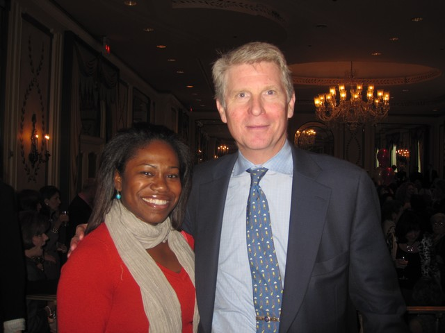 Manhattan District Attorney Cy Vance Jr. and his assistant Linara Davidson were among the guests at Thursday's event at the Pierre Hotel in Midtown.