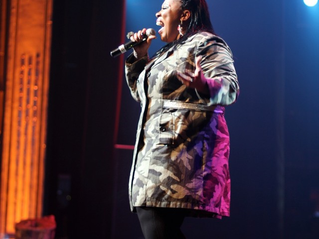 Finalist Danyelle Page, a singer who recently moved to Brooklyn from Detroit to pursue her craft.