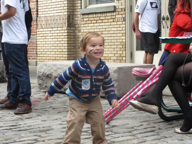 Grant Knettel, 2, a Battery Park City resident, enjoyed the live music at Taste of the Seaport.