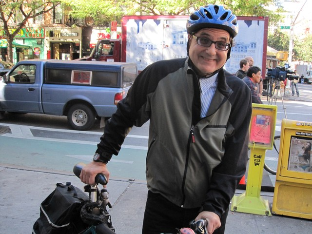 Cyclist Josh Gosciak said that cyclists, motorists and pedestrians need time to adjust to the new lanes.