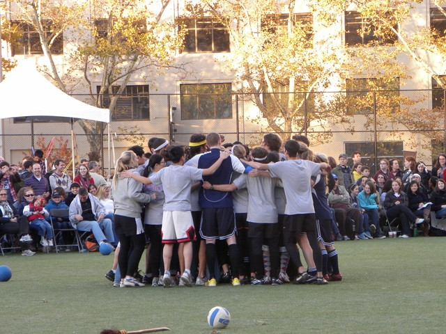 The Tufts squad celebrated after learning that they would advance to the final round, facing off against the defending champions from Middlebury College.