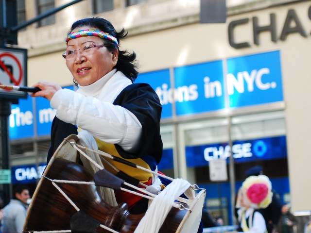 The parade also marks the 60th Anniversary of the Korean War, and featured many Korean-American performers.