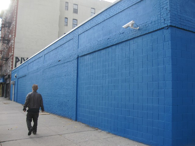 The repainted wall on Avenue C between East 6th and 5th streets.