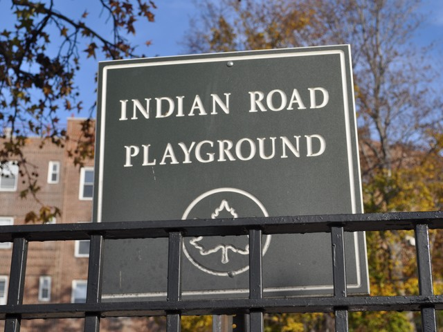 Indian Road Playground sits at the northern end of Inwood Hill Park.