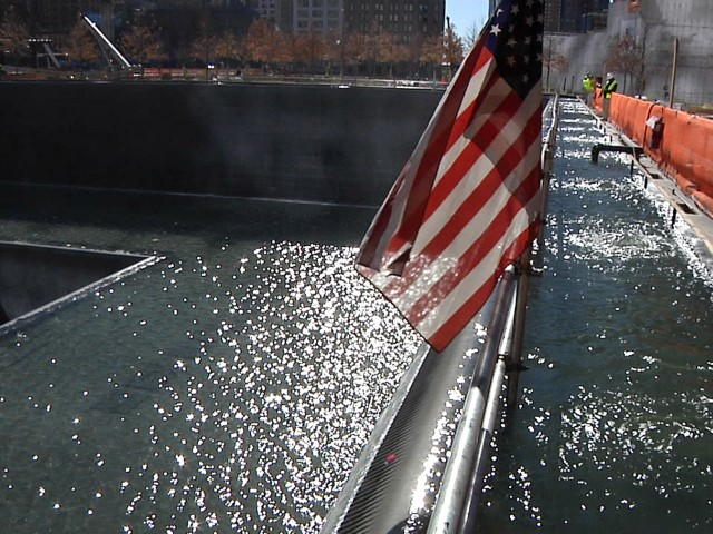 Together the 9/11 memorial pools will form the largest man-made waterfalls in America.