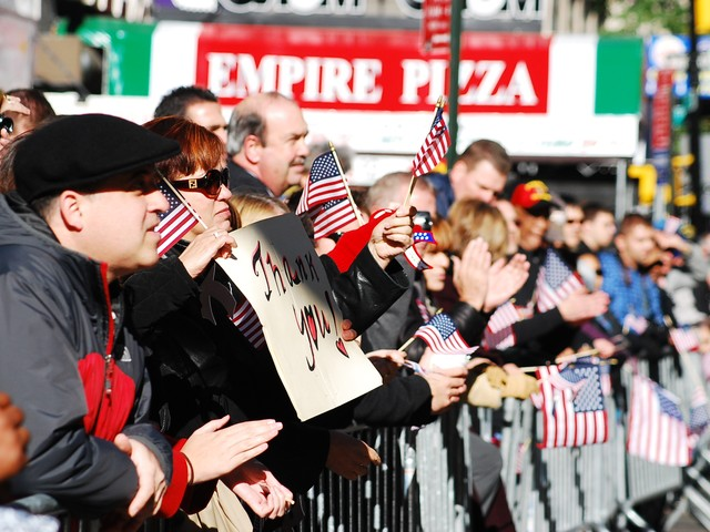 Thousands lined Fifth Avenue to show their support.