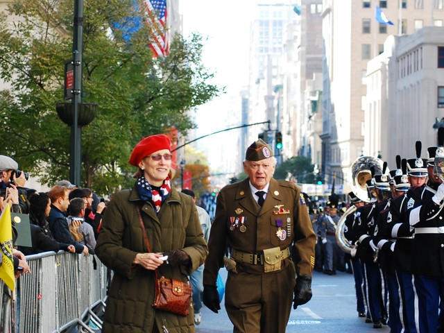 Thousands of service men and women marched down Fifth Avenue for the the 91st annual New York City Veteran's Day Parade Thursday.