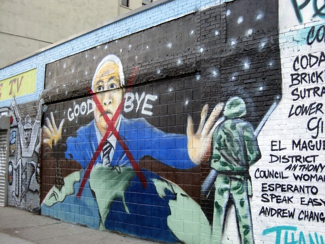 The edited mural following Obama's win.