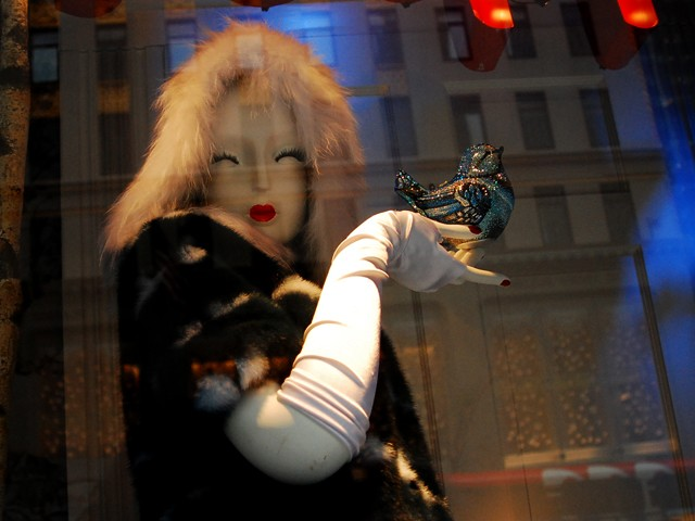 The fantasy travel scenes at Bergdorf Goodman.