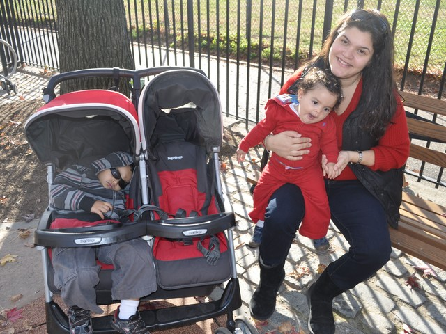Amanda Rivera, 34, lives in nearby Kingsbridge and came to the park with her two children to enjoy the playground, which she said is as good as downtown playgrounds and much closer.