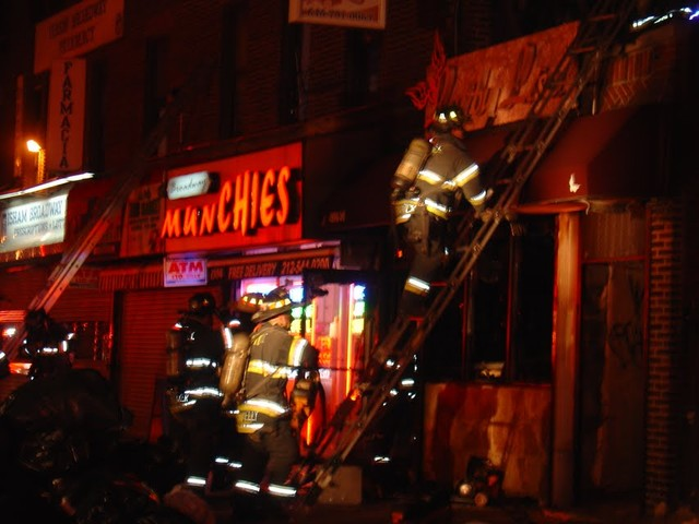 The day after the fire, Munchies restaurant remained closed.