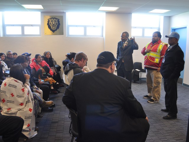 City Councilman Jackson's office is working with the Red Cross and the Department of Emergency Management to coordinate services for evacuated residents.
