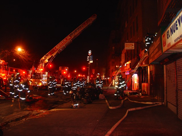 Firefighters responded to the fire at 10:24 p.m.