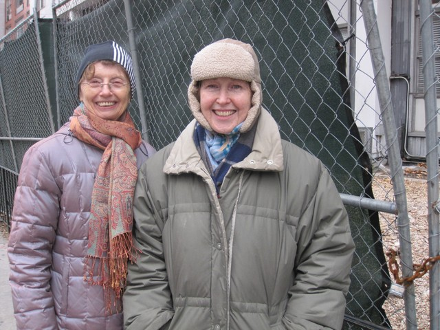 Long-time resients Barbara Backer (left) and Judy Magida are concerned about the impact cleanup efforts on the community.