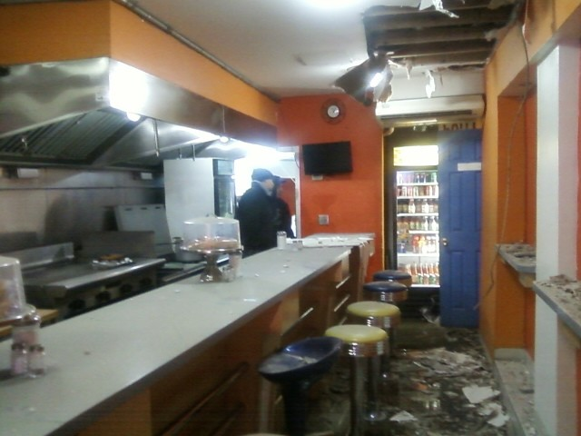 Broadway Munchies suffered water and smoke damage.
