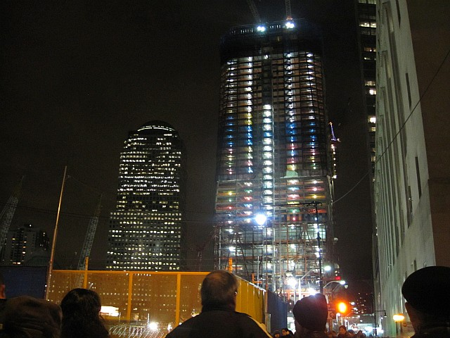World Trade Center Towers Light Up for the Holidays