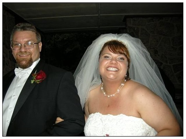 The Galvins at their wedding in 2008.
