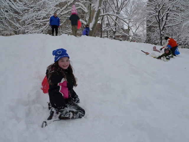 Second-grader Anna Rogoff called Thursday's snow day
