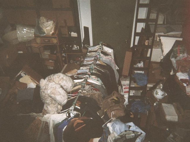 A photo taken in December of a National Arts Club apartment allegedly being used by Aldon and John James  for flea market finds.