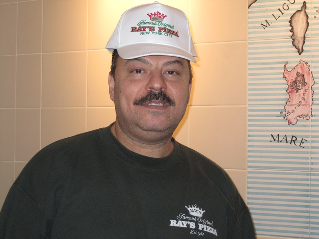 Ray's Pizza Manager Elsayed Elgaiar, a 30-year veteran of the company.