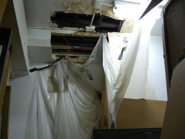 A photo taken in December of an art storage room in the National Arts Club.