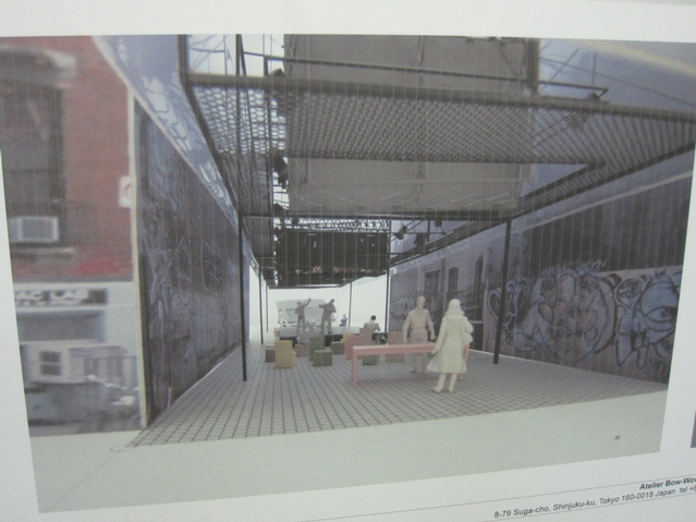 The temporary structure would be built in the vacant lot at 33 E. First St. between First and Second Avenues.