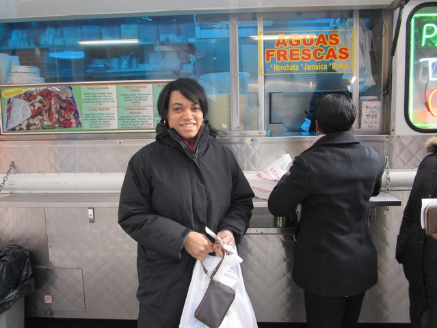 Kimberly Everette was happy to see Paty's back on the Upper East Side, Jan. 20.