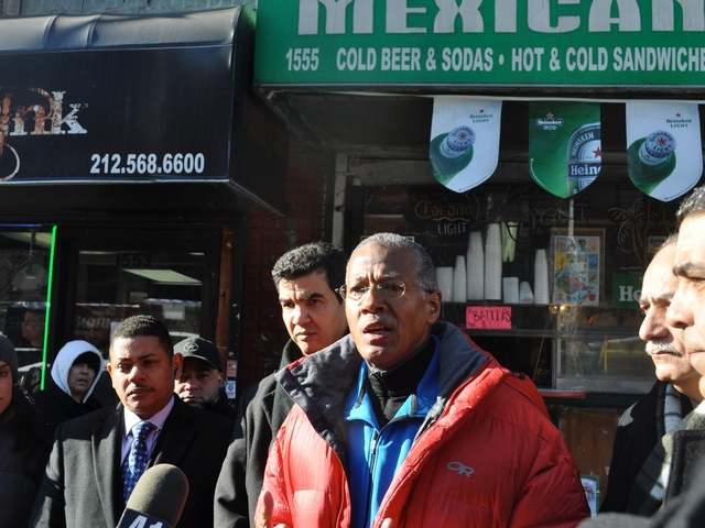 Councilman Robert Jackson showed solidarity against the crimes, despite them taking place outside of his district.