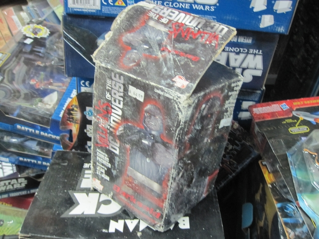 A $65 action figure that was badly damaged in the fire.