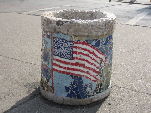 Power's 9/11 memorial planter in Astor Place may be threatened by a planned redesign of the area.