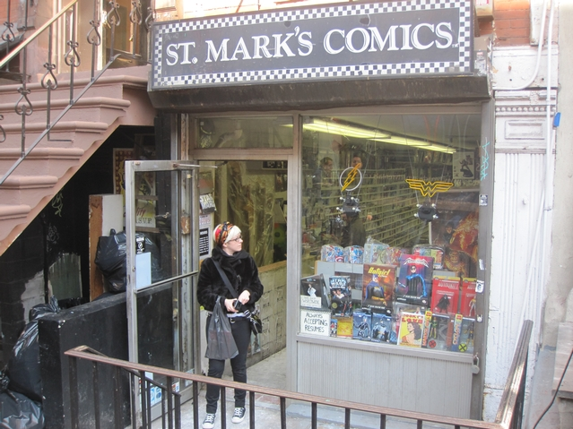 St. Mark's Comics reopened just hours after a fire tore through the store.