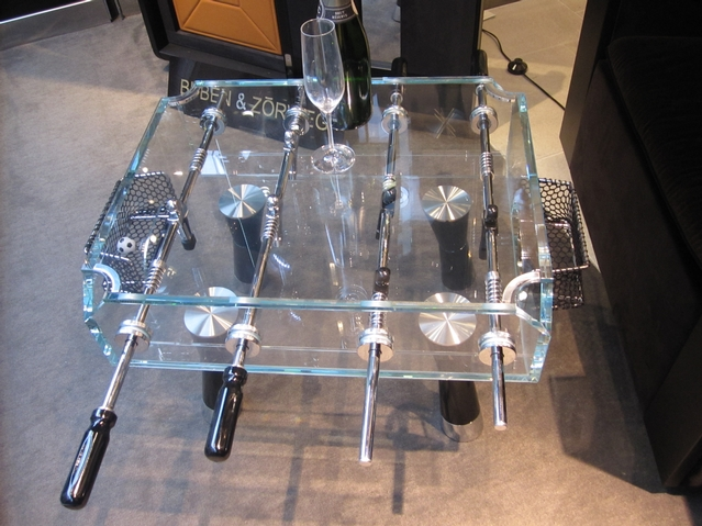 Foosball coffee table at the OC Concept Store (cost: roughly $8,000).