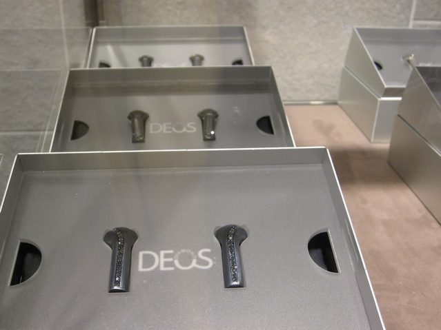 Black diamond earbud covers ($10,000) at OC Concept Store.