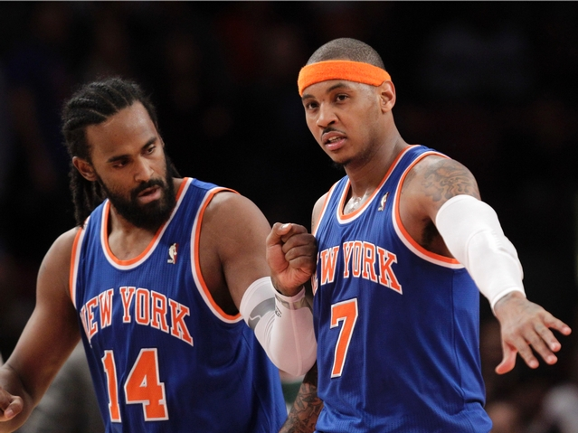 Ronny Turiaf and Carmelo Anthony Photo taken by the Associated Press