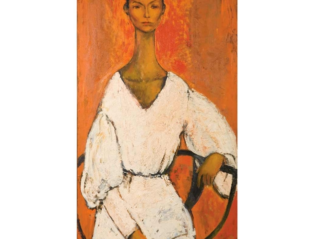 Geoffrey Holder, b. 1930 Lena, 1959. Estimate: $2,500 - 3,500