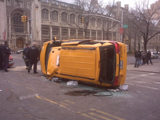 Four People Injured in Taxi Accident Near Columbia University