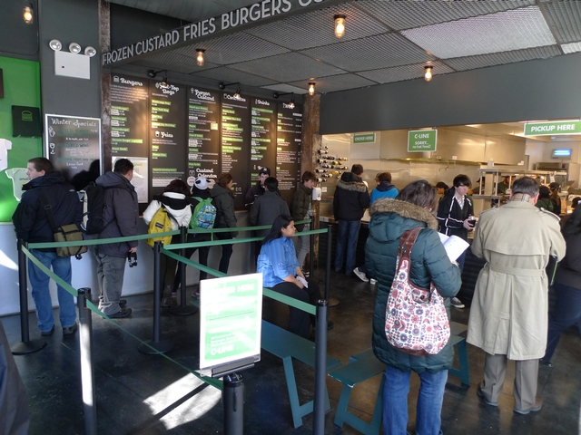 So many customers line up for Shake Shack's burgers that the restaurant has a