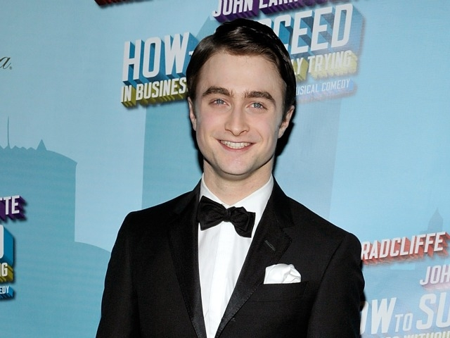 Daniel Radcliffe at the after party at the Plaza Hotel.
