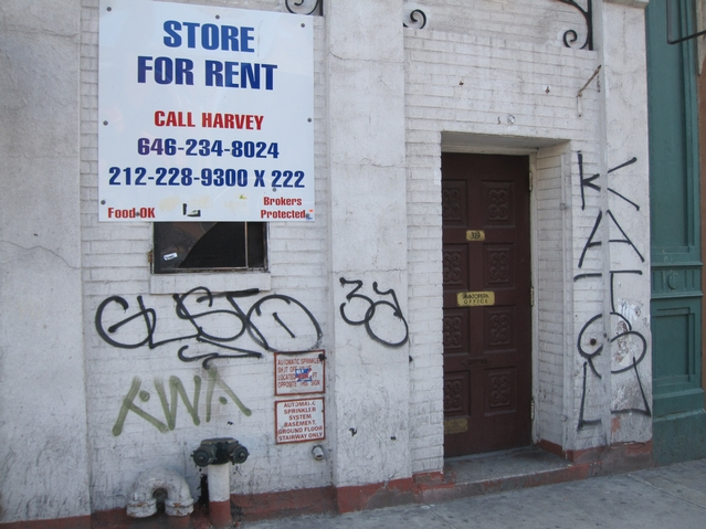 The building was recently covered in graffiti.