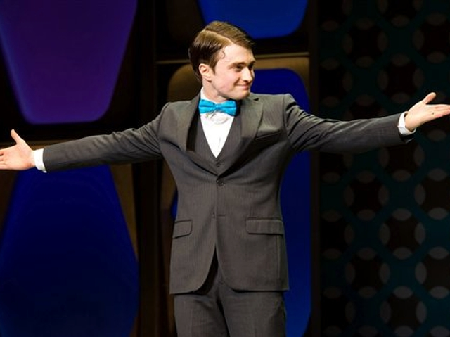 Daniel Radcliffe taking his curtain call at the opening night of