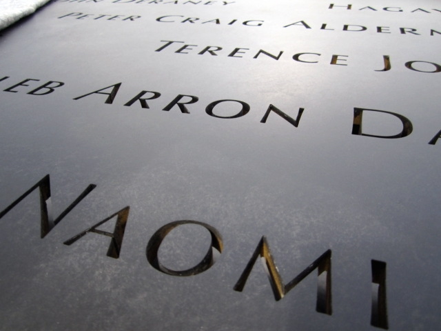 Bronze parapets inscribed with victims' names will ring the memorial pools.