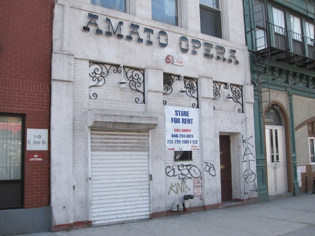 The former Amato Opera house at 319 Bowery.