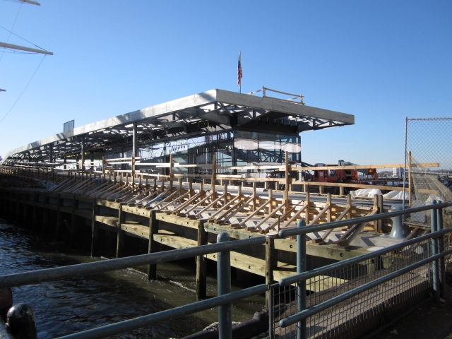 The new Pier 15 is two levels, so it will fit a maritime education center, a cafe and recreation space.