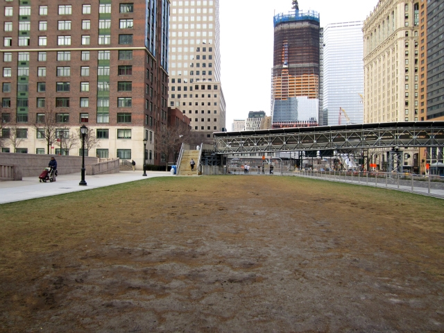Muddy Battery Park City Field Is An 'Eyesore,' Residents Say