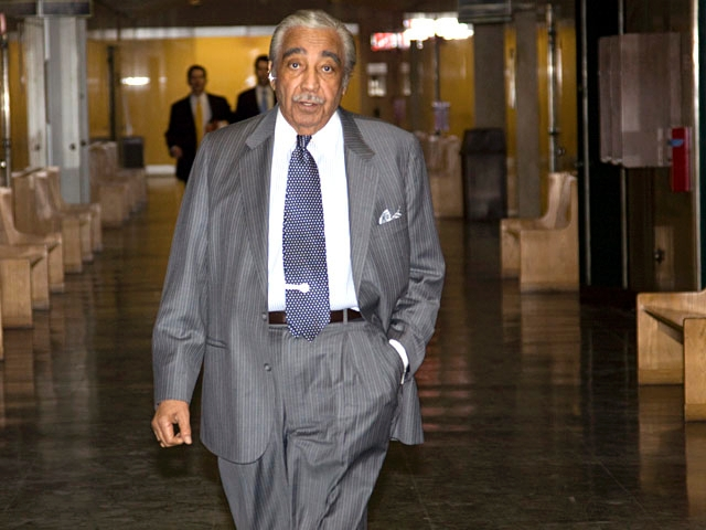 Harlem Rep. Charles Rangel was in court Friday to support Afrika Owes.