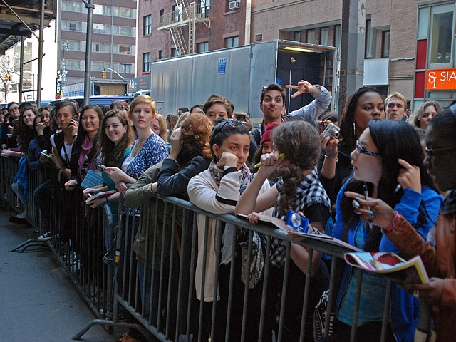 Fans lined up along 51st Street to catch a glimpse of the cast.